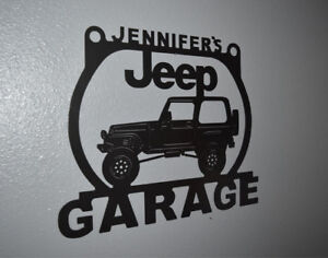 d7eb35c46efee Details about Jeep Wrangler Metal Garage sign Personalized Custom shop sign