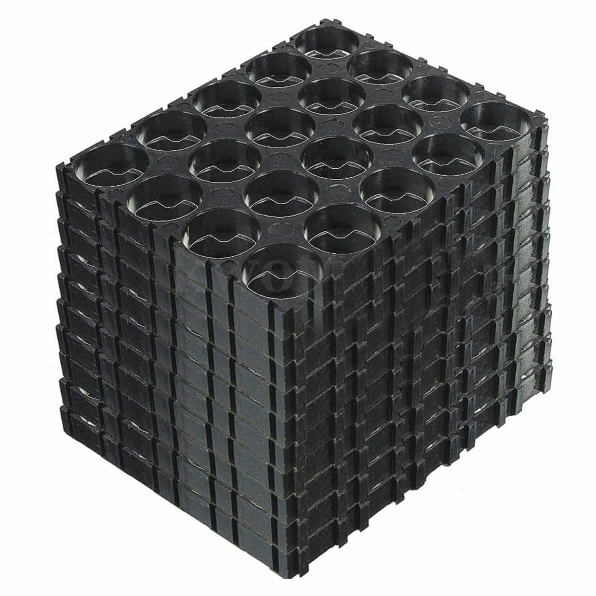 10PC 18650 Battery 4x5 Cell Spacer Radiating Shell Plastic Holder Bracket O7W1