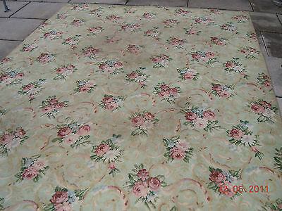 Omg Rare Bigelow Flapper Era Rug French Chic Rose Bouquets