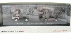 Herpa SCENIX EDITION - Mercedes-Benz NG 80 + Actros - mit Sound - 1:87 Truck LKW