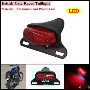 12V Red Motorbike Tail Brake Light+License Plate Bracket /&White illuminate light
