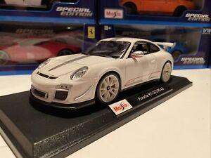 Porsche-911-GT3-RS-4-0-Blanco-1-18-Escala-Maisto-Special-Edition-nuevo-en-la-caja