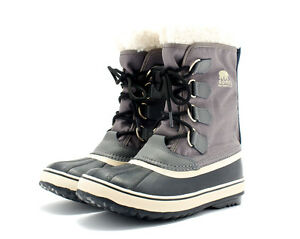 SOREL BOOTS WINTER CARNIVAL COLOR PEWTER WATERPROOF STYLE NL1495-035