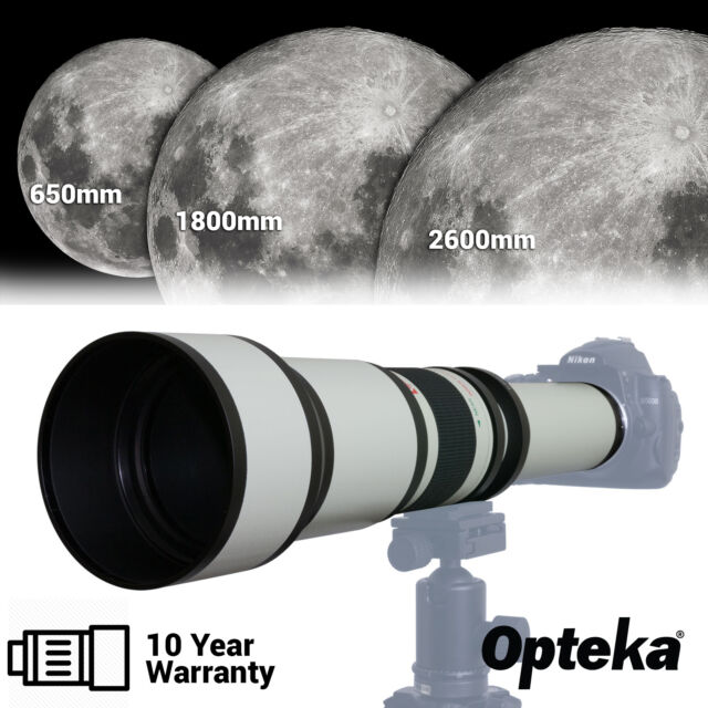 Opteka 650-2600mm Long Distance Super Telephoto Zoom Lens for Canon EOS Cameras