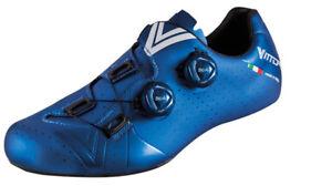 Scarpe-bici-corsa-Vittoria-Velar-red-blue-42-44-road-bike-shoes-made-in-Italy