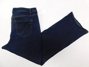 Womens-Lane-Bryant-22-Regular-Denim-Jeans-Blue-Bootcut-Genius-Fit-Cotton-Blend