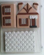 3D HOUSE CLEAR PLASTIC CHOCOLATE CANDY MOLD AO035