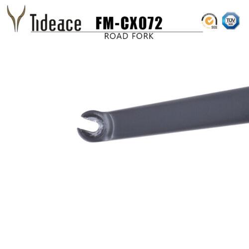 New QR 140mm Disc Brake Fork Gravel Bike Fork 100*9mm Tapered Forks Front Forks