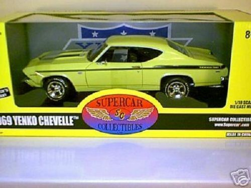 Ertl   supercar - 1   18 1969 yenko chevelle  butternut gelb & 1   2000