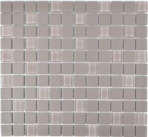 Mosaïque céramique gris non vitré cuisine toilette mur 18-0202-R10_f ...