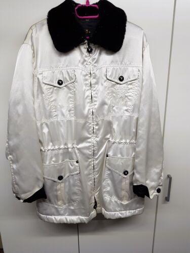 McM Size colletto D removibile Designer rarità menta con White 38 Jacket x7rPq4w7