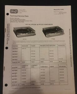 Details about Magnavox Manual No  5345 For FP7130, FP7230, & FP7233  Turntable 1983