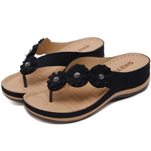 Women Herringbone Platform Wedge Sandals Slippers Ladies Summer Flip Flops Shoes