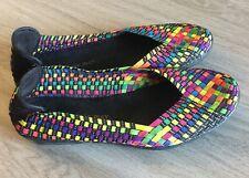 BERNIE MEV Catwalk Multicolor Woven Memory Foam Ballet Flats US 8/ EU 38 EUC