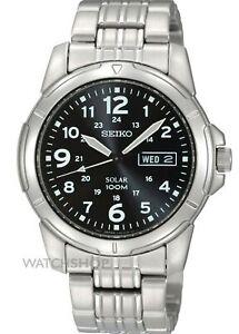 Seiko-Men-039-s-SNE095P1-Solar-Power-Analog-Quartz-Stainless-Steel-Watch