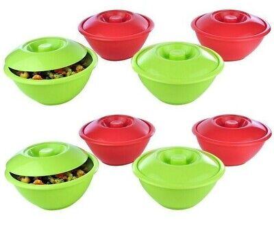 8 X Plastic Soup Bowls Cereal Fruit