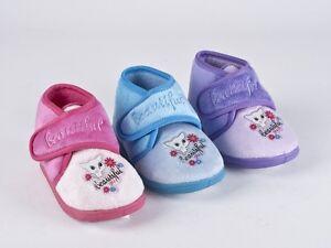 9f588a367a949e Das Bild wird geladen Kinder-Hausschuhe -Pluesch-Pantoffeln-Huettenschuhe-Katze-Schuhe-blau-