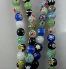 100pcs mix color millefiori glass Spacer bead 6mm