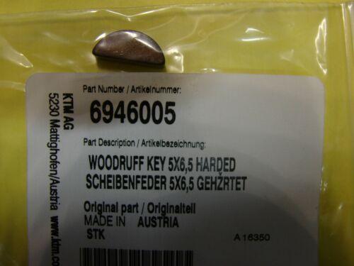 KTM WOODRUFF KEY 5x6,5 HARDED 6946005 NEW OEM