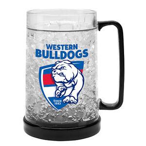 Western-Bulldogs-AFL-Logo-Ezy-Freeze-Beer-Mug-Stein-AFL-OFFICIAL-MERCHANDISE