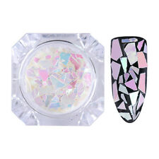 1g BORN PRETTY Colorful Nail Sequins Irregular Pink White Paillette Flakes Tips
