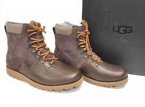 c4505aa2701 Ugg Australia Men's Halfdan Boot Grizzly Brown 1017286 Lace Up WP ...