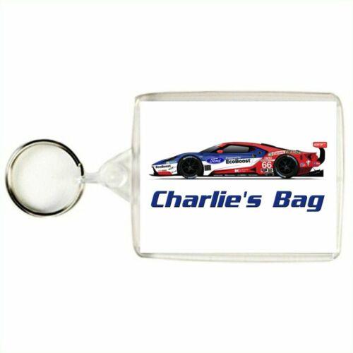 Bag Tag Personalised GT SPORTS CAR Keyring