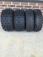 Four Honda Trx250x 22x7-10 / 20x10-9 Slasher Atv Tire Set (all 4 Tires) 4 Ply