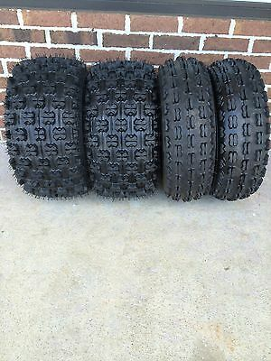 New SUZUKI LTZ 400 FULL COMPLETE SET of 4 22X7-10 20X10-9 Quadboss ATV Tires