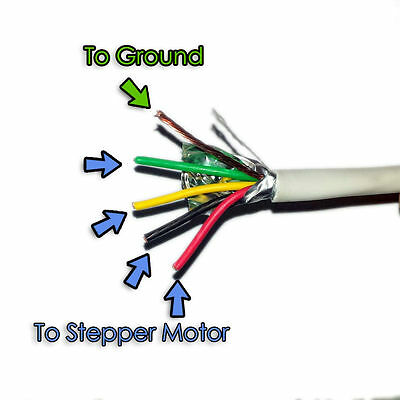 22 4 AWG 22/4 25FT Stranded Shielded Wire Cable for CNC Stepper Motors USA SHIP!