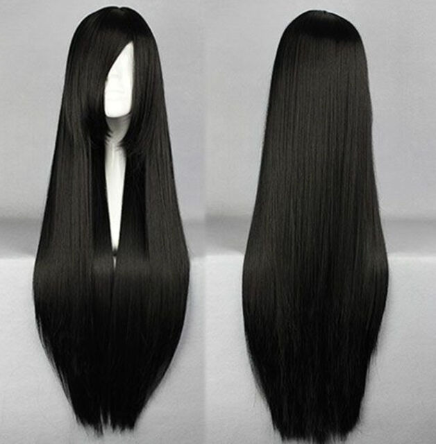 80cm Long Silky Straight Cosplay Fashion Wig heat resistant Full Wigs FREE SHIP