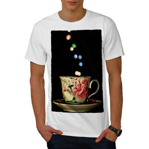 Wellcoda-Tea-Cup-Retro-Old-Mens-T-shirt-Smell-Graphic-Design-Printed-Tee