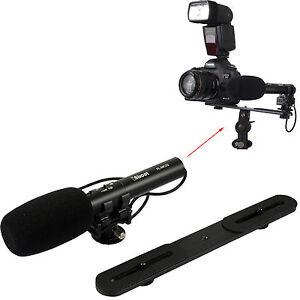 Professional-Stereo-Microphone-MIC-Holder-f-Digital-Camera-Video-Camcorder-DC-DV