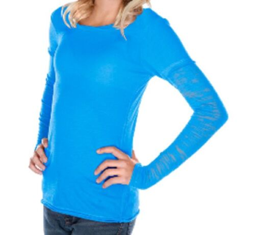 Kavio Girls Long Sleeve Fine Jersey T Shirt with Burnout Sleeves Sizes 7 to 16