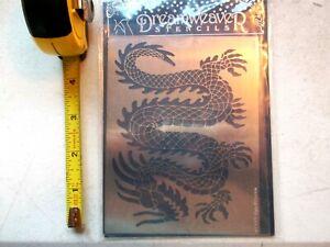 Dreamweaver-Metal-Stencil-Dragon-LJ844-2003-Lynell-Harlow-Embossing-Stenciling
