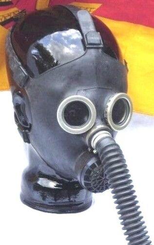 Gasmaske Hannibal Black Style Gummi Poppers Halloween Dark Room Gr.54-56