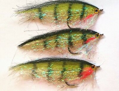 Flies by Iain Barr Fly Fishing 3 Large DEADLY Pike Zander predatory Fly Lures