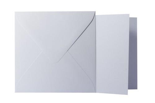 15x15 cm // 14,5x14,5 cm 25x Briefumschläge Klappkarten quadratisch Hell Grau