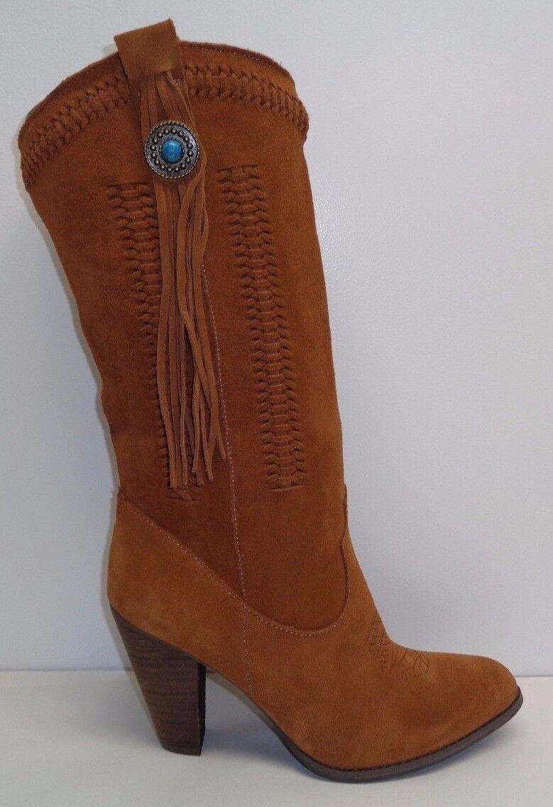 all'ingrosso a buon mercato Reba Dimensione 8 M M M HADES Tan Suede Fringe Tassel Western Heel stivali New donna scarpe  l'ultimo