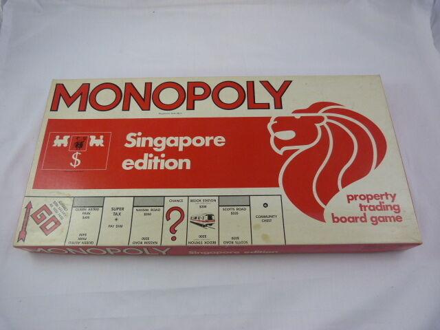 Brettspiel  monopol  singapur edition  selten