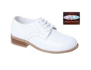 White Tuxedo Dress Shoes Toddler to Boy Sizes: 8 9 10 11 ...