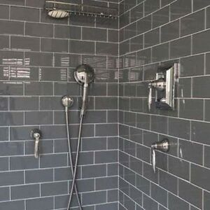 Image Is Loading 10 X 20 Gloss Dark Grey Brick Metro