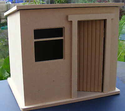 1:12 Scale Flat Pack MDF Tool Shed Kit Tumdee Dolls House Miniature Garden Shop