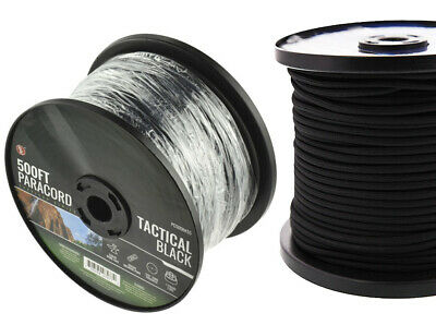 7 Strand  Cord Outdoor Survival Camping Rope Black 550 Paracord 500 ft