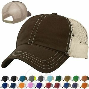 Image is loading Garment-Washed-Retro-Trucker-Cap-Low-Profile-Cotton- 21a7b6e008c2