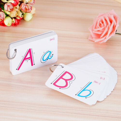 FT Flash Cards For Kid Alphabet Toddler Early Learning Educational First Wo DI