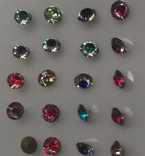 100/5.5mm Birthstone Crystal Floating Living Memory Glass Lockets Charms Mix