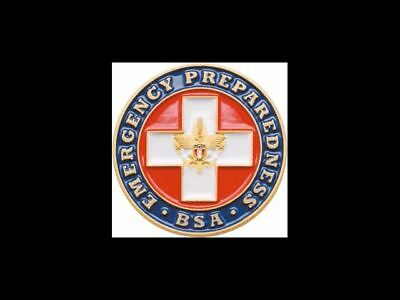 BOY SCOUT EMERGENCY PREPAREDNESS HAT CAP COAT JACKET PIN JAMBO OA BSA TRADING
