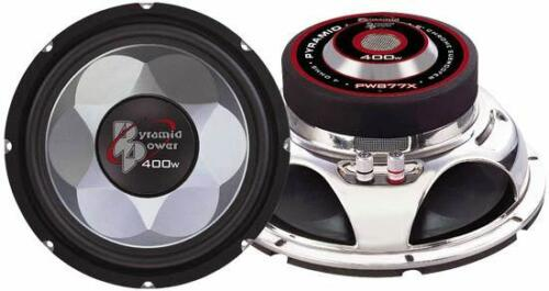 """Pyramid Car Audio PW1277X New 12/"""" 700W Injection Molded Cone Chrome Subwoofer"""