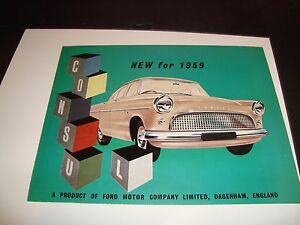 1959 ford consul nm condition car vehicle full color automobile sell